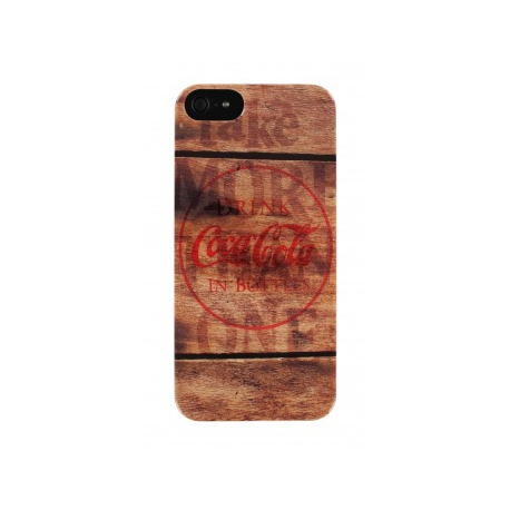 Carcasa Coca-Cola Wood iPhone 5/5S