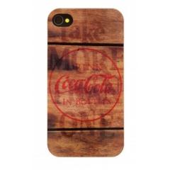Carcasa Coca-Cola Wood iPhone 4