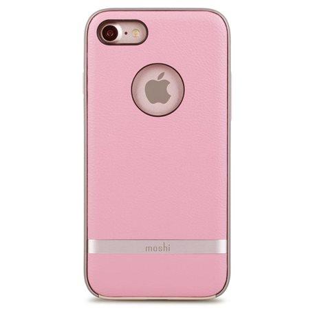 Carcasa piel Moshi iGlaze Napa iPhone 7 rosa
