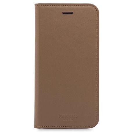 Funda piel Knomo Premium iPhone 7 caramelo