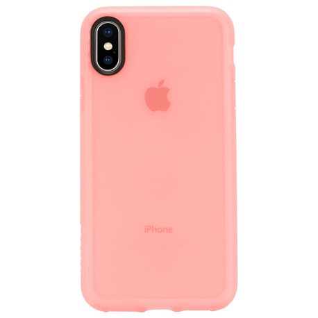 Carcasa iPhone X Incase Lattice rosa coral
