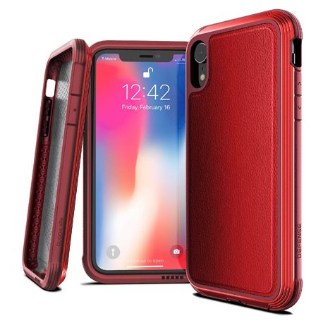 Carcasa iPhone Xr X-doria Defense Lux rojo