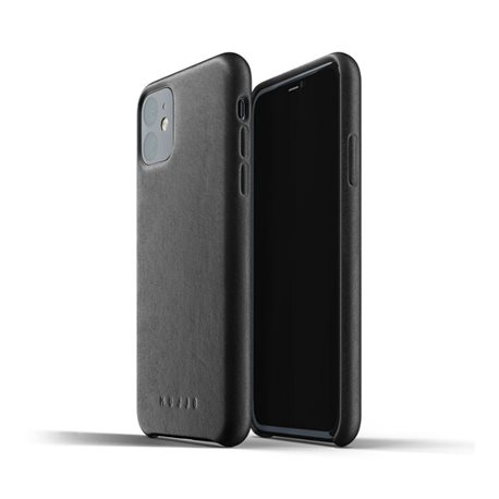 Carcasa Mujjo piel iPhone 11 negra