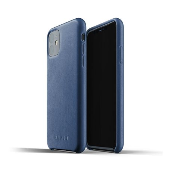 Carcasa Mujjo piel iPhone 11 azul mónaco