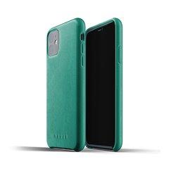 Carcasa Mujjo piel iPhone 11 verde alpino