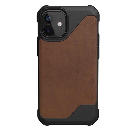 Funda iPhone 12 Mini UAG Metrópolis LT piel marrón