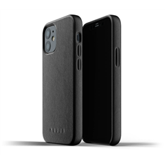 Funda piel Mujjo iPhone 12 Mini negra