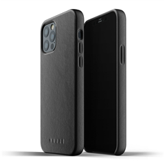 Funda piel Mujjo iPhone 12 / Pro negra