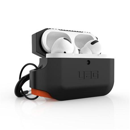 Funda silicona UAG Airpods Pro 1ª y 2ª Gen negro y naranja
