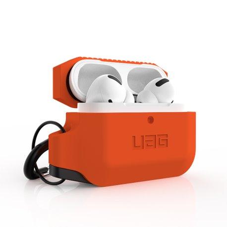 Funda silicona UAG Airpods Pro 1ª y 2ª Gen naranja y negro