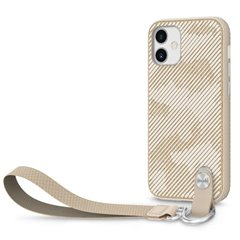Moshi Altra funda con correa iPhone 12 mini beige