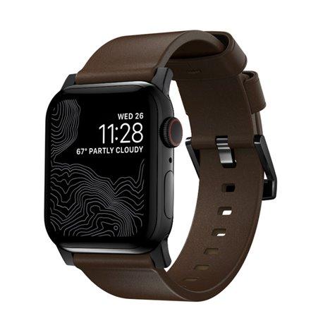 Nomad Modern Slim correa Apple Watch 38/40 mm marrón/negro