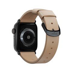 Nomad Modern correa Apple Watch 38/40 mm beige/negro