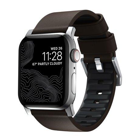 Nomad Active correa piel Apple Watch 44/42 mm marrón/gris