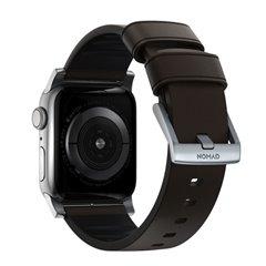 Nomad Active Pro correa piel Apple Watch 44/42 mm marrón/gris