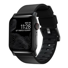 Nomad Active correa piel Apple Watch 44/42 mm negro/negro