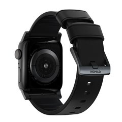 Nomad Active Pro correa piel Apple Watch 44/42 mm negro/negro