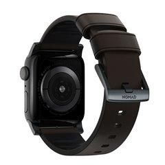 Nomad Active Pro correa piel Apple Watch 44/42 mm marrón/negro