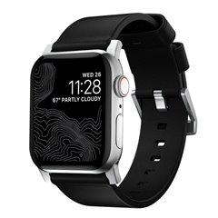 Nomad Modern correa Apple Watch 44/42 mm negro/gris