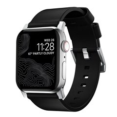 Nomad Modern correa Apple Watch 44/42 mm negro/gris