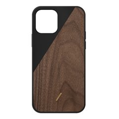 Native Union Clic Wooden funda madera iPhone 12 / 12 Pro negro