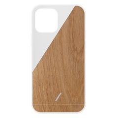 Native Union Clic Wooden funda madera iPhone 12 / 12 Pro blanco