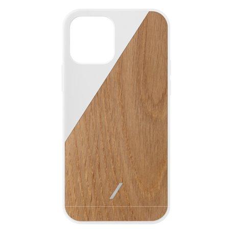 Native Union Clic Wooden funda madera iPhone 12 / 12 Pro blanco