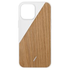 Native Union Clic Wooden funda madera iPhone 12 Pro Max blanco