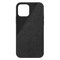 Native Union Clic Canvas funda iPhone 12 / 12 Pro negro