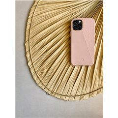 Decoded Split funda piel iPhone 12 mini rosa
