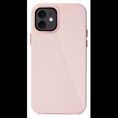 Decoded Split funda piel iPhone 12 mini rosa