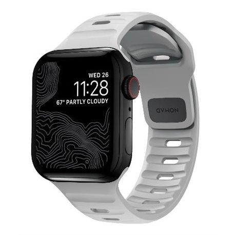 Nomad Sport V2 correa deportiva Apple Watch 44/42 mm gris lunar