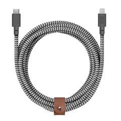Native Union Belt XL Cable Lightning a USB-C zebra