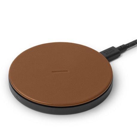 Base de carga inalámbrica Native Union Drop leather marrón