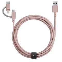 Native Union Belt Cable Universal 3 en 1 rosa (2 metros)
