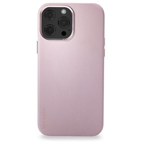 Decoded funda piel MagSafe iPhone 13 Pro rosa