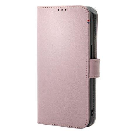 Decoded funda piel MagSafe con billetera iPhone 13 Pro rosa