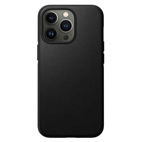 Nomad Modern Case funda piel iPhone 13 Pro MagSafe negro