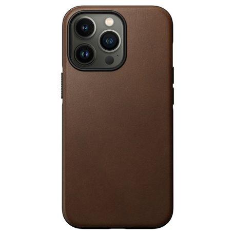 Nomad Modern Case funda piel iPhone 13 Pro MagSafe marrón