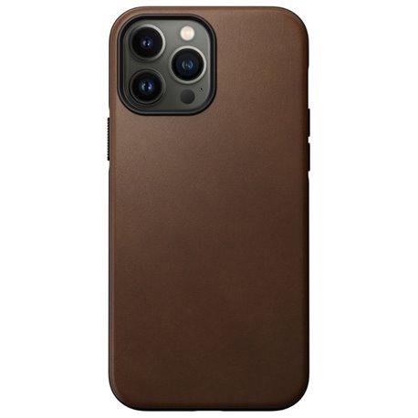 Nomad Modern Case funda piel iPhone 13 Pro Max MagSafe marrón