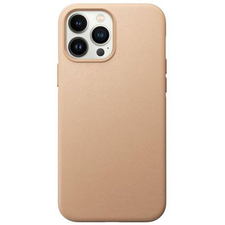 Nomad Modern Case funda piel iPhone 13 Pro Max MagSafe beige natural
