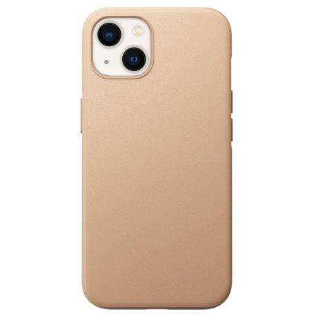 Nomad Modern Case funda piel iPhone 13 MagSafe beige natural