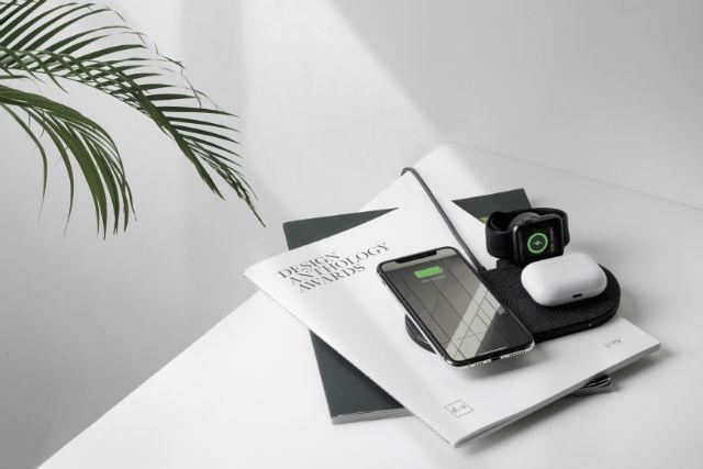Carga hasta 3 dispositivos Apple a la vez (iPhone, AirPods y Apple Watch)