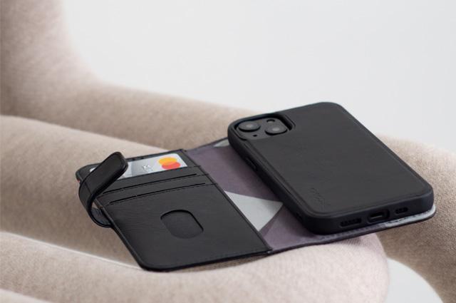 Funda piel billetera desmontable Decoded iPhone 13 Pro
