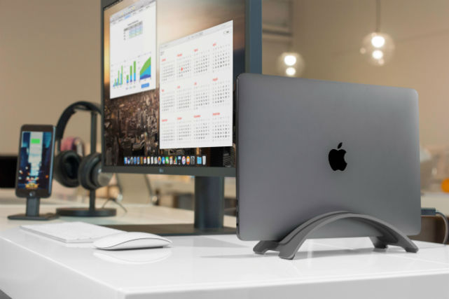 BookArc Twelve South soporte vertical gris para MacBook