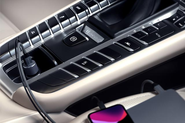 Cargador coche 2 en 1 Satechi 72W PD USB-C y USB-A