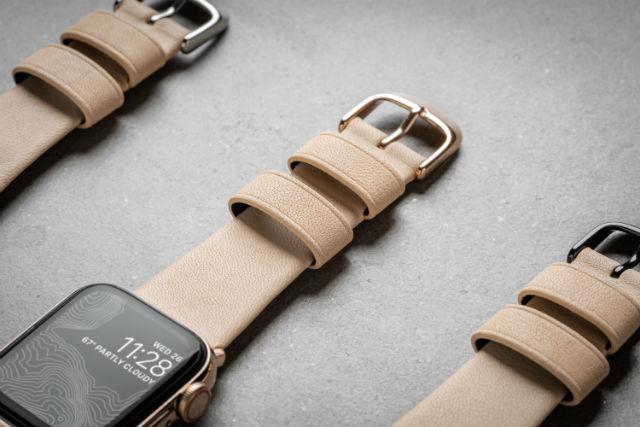 Correa Nomad para Apple Watch 38/40mm en color beige natural de Nomad Goods.