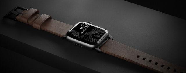 Correa para Apple Watch Nomad Modern Slim en piel marrón 38/40 mm
